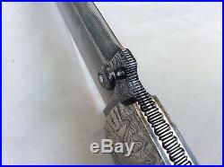 Kaj Embretsen Custom Damascus Folding Knife Fighter Style