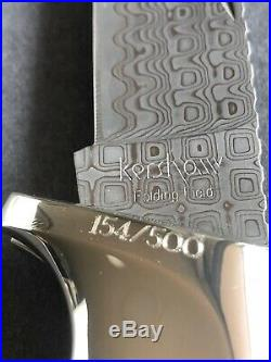 Kershaw 1050ANN 30th Anniversary 154/500 Damascus folding field knife UNUSED