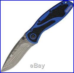 Kershaw Blur Linerlock Folding Knife 3.5 Damascus Steel Blade Aluminum Handle