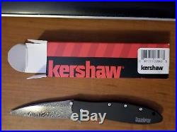 Kershaw Ken Onion Leek 1660DAMCKT Folding Pocket Knife 3 Damascus Steel Blade