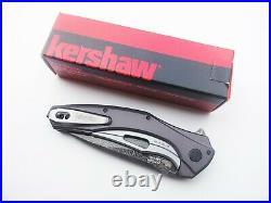Kershaw Knives 7777DAM BAREKNUCKLE 3.5 Blade Damascus KVT Ball Opening