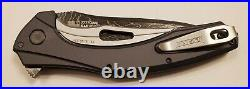 Kershaw Knives 7777DAM BAREKNUCKLE 3.5 Blade Damascus KVT Ball Opening Flipper