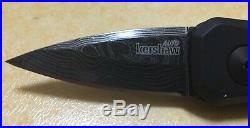 Kershaw Launch 4 automatic folding knife Damascus blade 7500DAM New made in USA