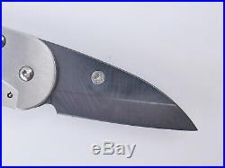 Kyocera Ceramic 1.5 Blade Folding Pocket Knife Damascus Carbon Fiber Japan