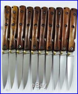 LOT OF 10A+ Custom Made Damascus Steel D2 Fillet Folding Pocket Knives