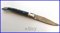 Laguiole, Damastmesser, Jagdmesser, Geweih, Klappmesser, Damascus Knife, folding knife