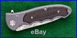 Leo Damascus III Folding Knife, Boker Domast, Hard to find flipper style folder