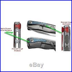 LionSTEEL ROK Framelock Folding Knife 3.25 Damascus Blade Gold Titanium Handle