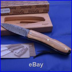 Lionsteel Opera Damascus Folding Knife (folding Blade Knife) 8800dul