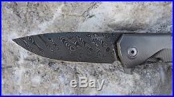 Lionsteel T. R. E. Titanium Boomerang Damascus 2.91 Italian Folding knife