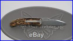 Lone Wolf Knives Lobo Damascus Palm Wood D/A Folding Knife Pre-Benchmade LC22550