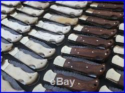 Lot Of 100 Piece Custom Damascus steel Handmade back lock pocket folding knife