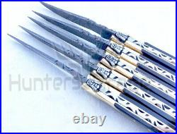Lot Of 5hgk Damascus Custom Hand Made Hunting Pocket Folding Knife Small Guy