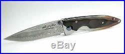 MCUSTA Folding Knife MC-0073D Damascus Steel 165 mm Nishijin Case Japan F/S
