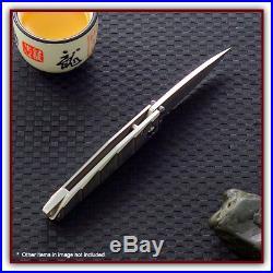 MCUSTA Tanbo Classic Damascus/Damascus Linerlock Fold Knife. 2.9 blade. MC-35D
