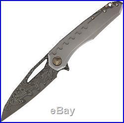 Marfione Custom Knives Custom Sigil Damascus Machine Folding Knife 396-MCK