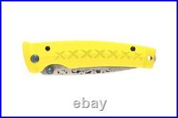 Mcusta Fusion Folding Knife Yellow Aluminum Handle Damascus Plain Edge MC-164-D