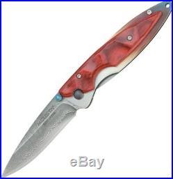 Mcusta Kasumi Folding Knife VG-10 Core Damascus Steel Blade Stamina Wood Handle