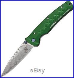 Mcusta MC-163D Tsuchi Damascus Folding Knife With3.25 Drop Point Blade Folder