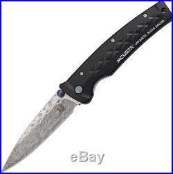 Mcusta MCU161D Tsuchi Damascus Drop Point Folding Knife Pocket Folder