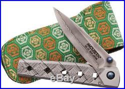 Mcusta MCU37C Yoroi Clad Folding Knife 3.5 Folder Damascus Steel Blade Folder