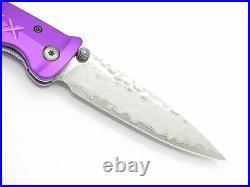 Mcusta Seki Japan 162D Purple Japanese Bushi Sword VG-10 Damascus Folding Knife