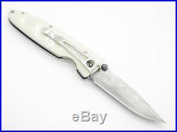 Mcusta Seki Japan Basic Mc-15d White Corian Vg-10 Damascus Folding Pocket Knife
