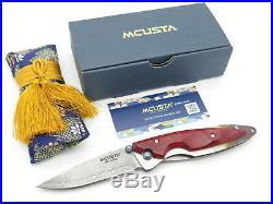 Mcusta Seki Japan Kasumi Mc-72d Staminawood Vg-10 Damascus Folding Pocket Knife