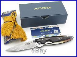 Mcusta Seki Japan Kasumi Mc-73d Ebony Wood Vg-10 Damascus Folding Pocket Knife