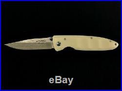 Mcusta Seki Japan MC-15D White Corian VG-10 Damascus Folding Pocket Knife NIB