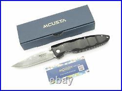 Mcusta Seki Japan MC-17D Classic Wave Black Wood Damascus Folding Pocket Knife