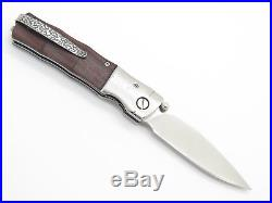 Mcusta Seki Japan Mc-0145r Vg-10 Rosewood Bamboo Damascus Folding Pocket Knife