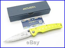 Mcusta Seki Japan Mc-164d Gold Japanese Bushi Sword Vg-10 Damascus Folding Knife