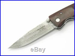 Mcusta Seki Japan Mc-18d Classic Wave Ironwood Damascus Folding Pocket Knife