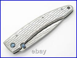 Mcusta Seki Japan Wave MC-0112D VG-10 Damascus Framelock Folding Pocket Knife