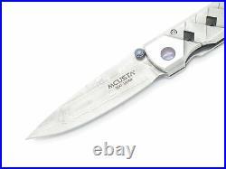 Mcusta Seki Japan Yoroi MC-37D VG-10 San Mai Damascus Small Folding Pocket Knife