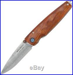 Mcusta Tsuchi Folding Knife VG-10 Core Damascus Steel Blade Cocobolo Wood Handle