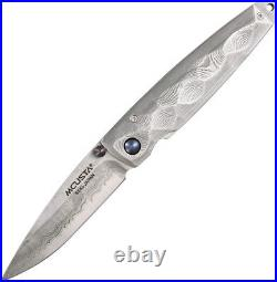 Mcusta Tsuchi Folding Knife VG-10 Core Damascus Steel Blade Damascus Handle