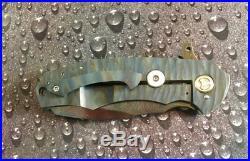 Melvin Lozada Custom Handmade Hades Tactical Flipper Folding Knife Damascus