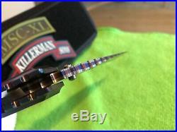 Mick Strider Custom XL Damascus folding knife