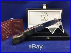 Muela Folding 60th Anniversary Lockback Damascus Knife Mint In Case BX 8