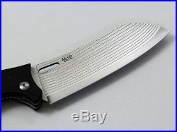 NEW Folding Santoku Knife Takeshi Saji 130mm Damascus Made in Japan free ship