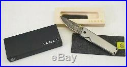 NEW The James Brand The Chapter Titanium Damascus Folding Knife SQ6078841
