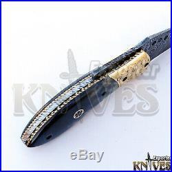 New Custom made Damascus Steel Folding / Pocket Knife, Bone Handle 22