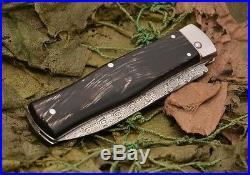 New Folding Knife Mikov Predator 241-DR-1/KP EDC James Bond DAMASK Damascus
