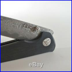 New SBK Damascus Custom knife Folding Pocket Rare (one of a kind) gift