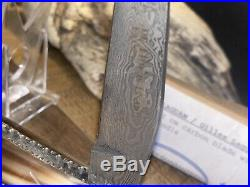 New Thiers Issard Pocket Knife Folding 4.0 Damascus Blade Blond Horn France