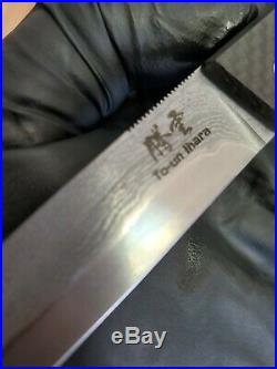 PARAGON KNIVES CUSTOM FOLDING TU-un Ihara VG10 CORE 22 LAYER DAMASCUS