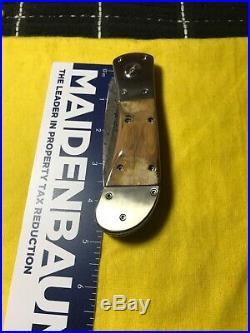 PAT CRAWFORD CUSTOM One-Of-A-KIND LARGE DAMASCUS FOLDING KNIFE-VINTAGE