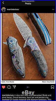 PETER MARTIN DAMASCUS Mini XRS FOLDING KNIFE